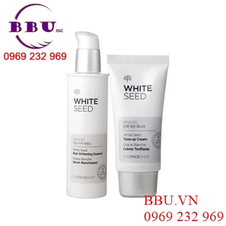 Bộ dưỡng trắng da The Face Shop White Seed Real Whitening Essence và Tone-up Cream