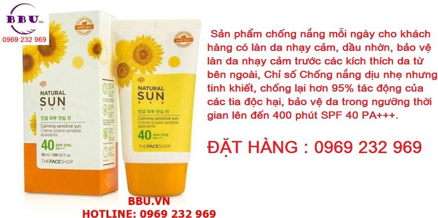 Kem chống nắng Natural Sun Eco