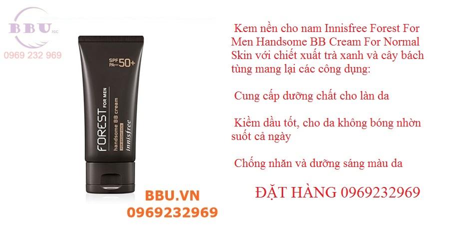 Kem nền cho nam Innisfree Forest For Men Handsome BB Cream