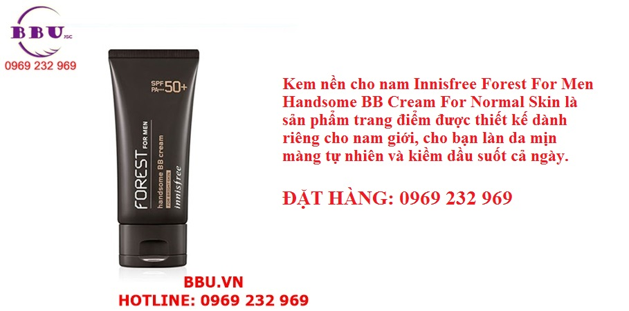 Kem nền cho nam Innisfree Forest For Men Handsome BB Cream For Normal Skin