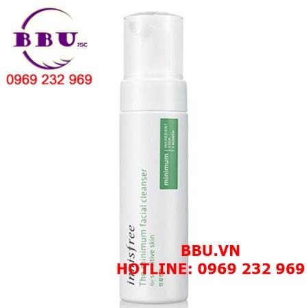 Sữa rửa mặt cho da nhạy cảm Innisfree The Minimum Facial Cleanser