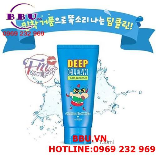 Sữa rửa mặt A'pieu Deep Clean Foam Cleanser Crayon Shinchan