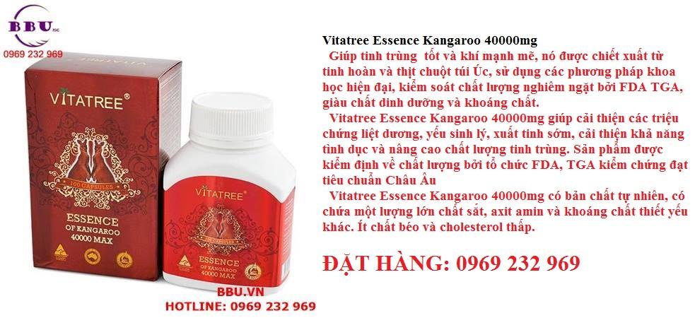 Tăng Cường Sinh Lý Vitatree Essence Of Kangaroo 40000 Max