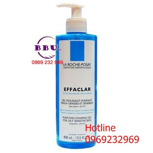 sửa rửa mặt ngăn ngừa và trị mụn La Roche Posay Effaclar