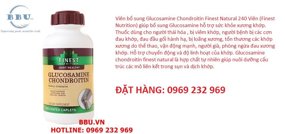 Glucosamine Chondroitin Finest Natural 240 viên
