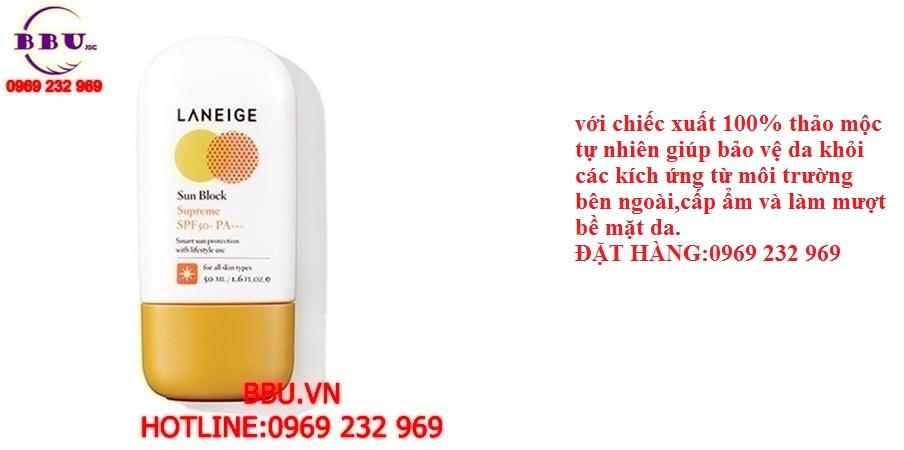 Kem chống nắng Laneige Sun Block Supreme SPF 50+ PA+++