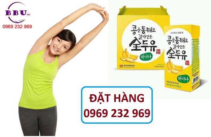 Chuyên cung cấp sỉ sữa đậu nành vị chuối Hanmi