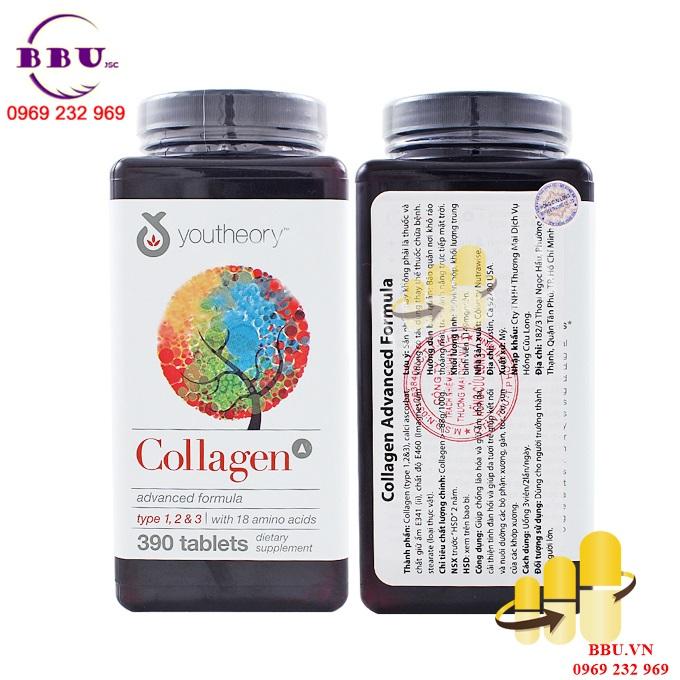 Collagen Youtheory 390 viên