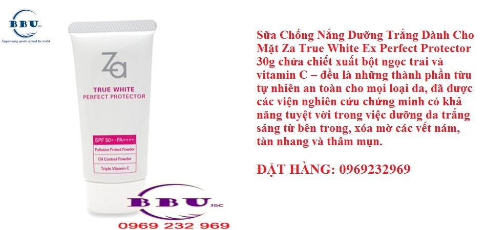 Sữa Chống Nắng Dưỡng Trắng Dành Cho Mặt Za True White Ex Perfect Protector