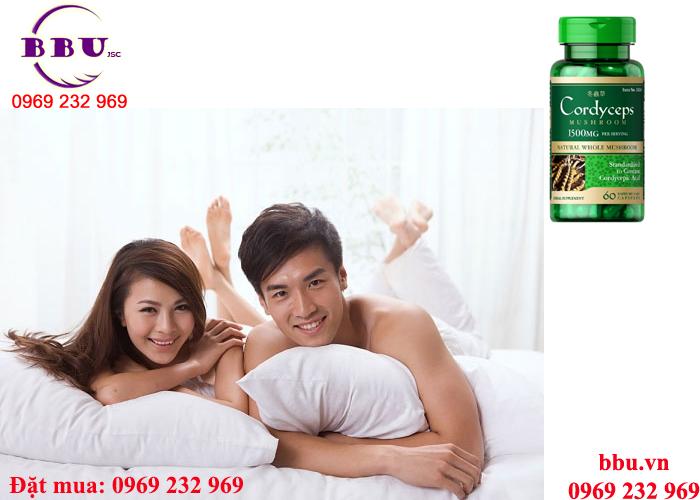 Đông Trùng Hạ Thảo Cordyceps 1500 mg tăng cường sinh lực