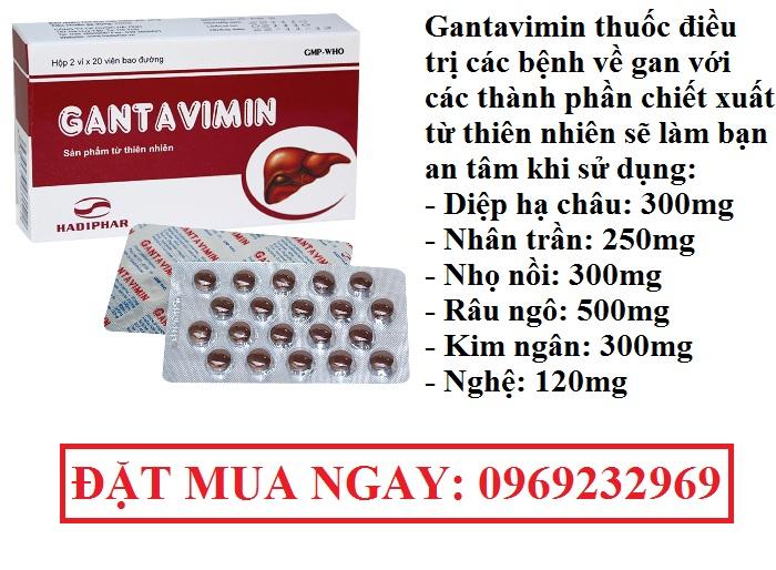 Gantavimin thuốc điều trị các bệnh về gan
