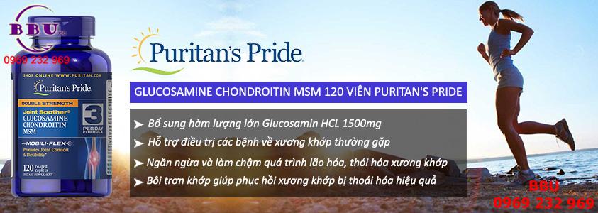Glucosamin Chondroitin MSM Puritans Pride 120 viên - Glucosamin Mỹ