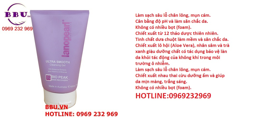 Gel rửa mặt Lanopearl Ultra Smooth Cleansing Gel