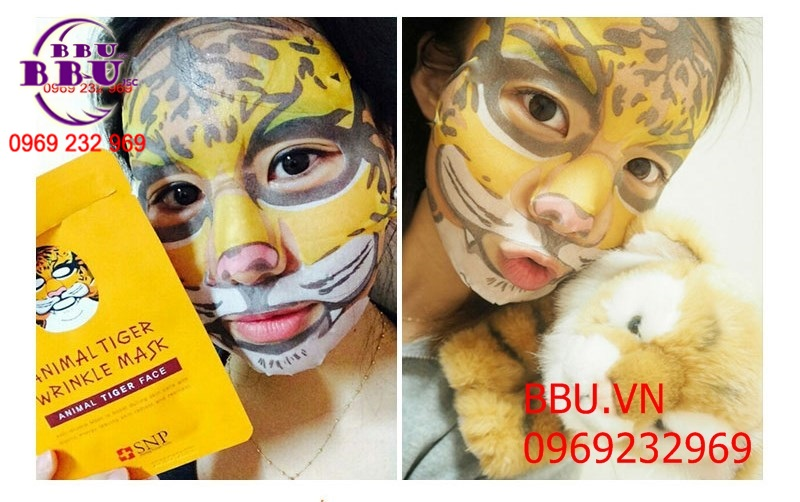 Mặt Nạ SNP Animal Tiger Wrinkle Mask