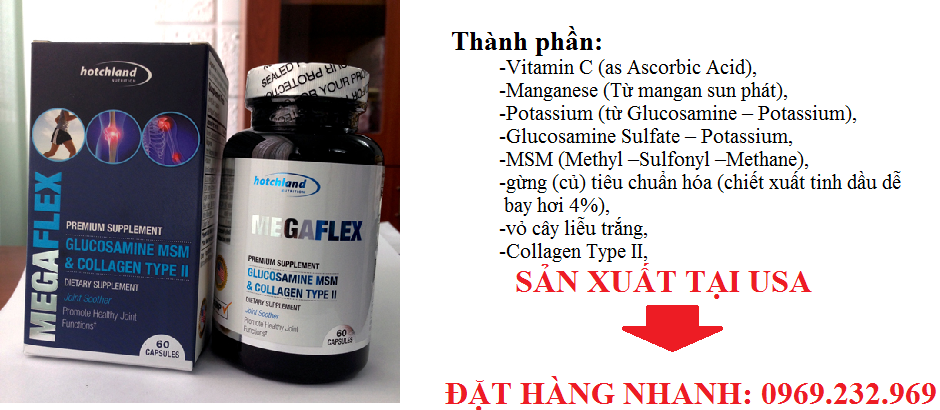 MegaFlex Glucosamine, Collagen type II bổ xương, khớp