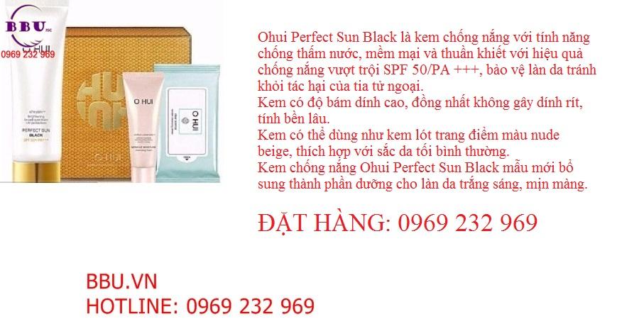 Set kem chống nắng che khuyết điểm Ohui Perfect Sun Black Teo Yang SPF 50 PA của Hàn Quốc