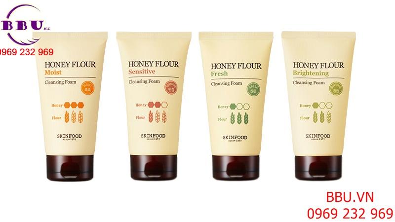 Sữa rửa mặt làm trắng da Skin Food Honey Flour Brightening Cleansing Foam