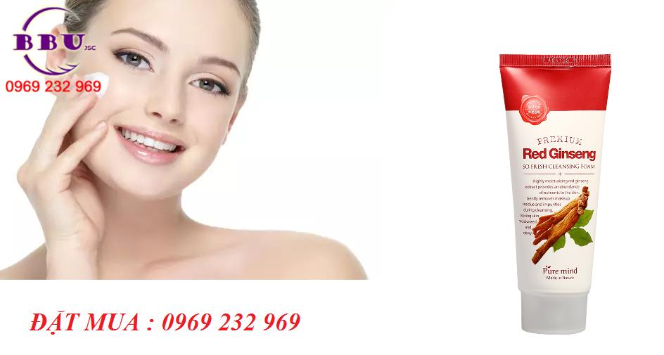 Sữa rửa mặt nhân sâm đỏ Pure Mind Premium Red Ginseng Cleaning Foam 100 ml