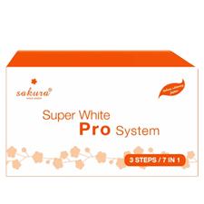 Set kem tắm trắng cao cấp Sakura Super White Pro System 7 trong 1
