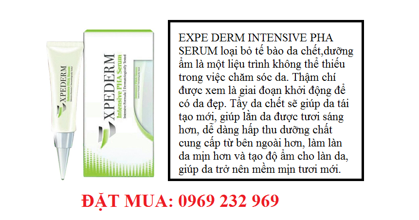 Serum loại bỏ tế bào da chết , dưỡng ẩm EXPE DERM INTENSIVE PHA SERUM