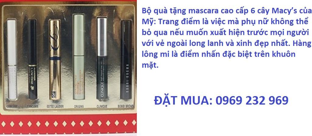 Bộ quà tặng mascara cao cấp 6 cây Macy's của Mỹ