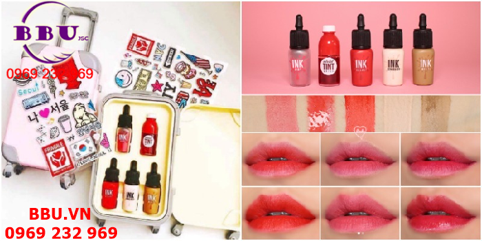Set Son Ink Peripera Fashion People Carrier Vali