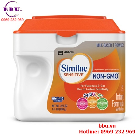 Sữa Similac Sensitive NON-GMO dành cho bé từ 0-12 tháng