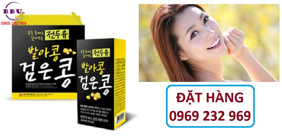 Sữa đậu mè đen Hanmi Hàn Quốc thùng 16 hộp