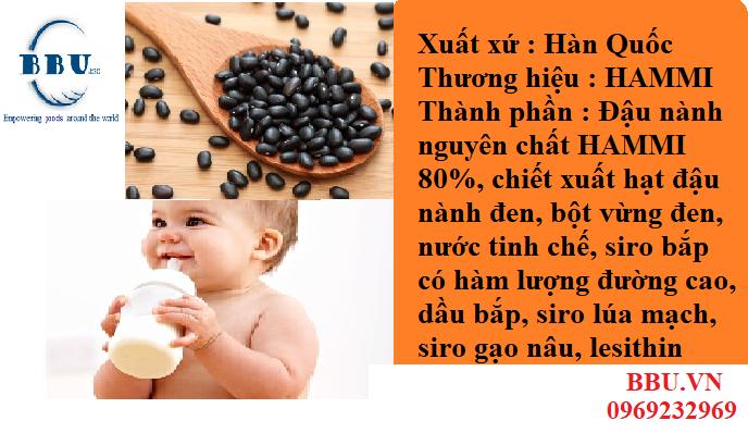 Sữa đậu nành mè đen HANMI Hàn Quốc (thùng 16 hộp)