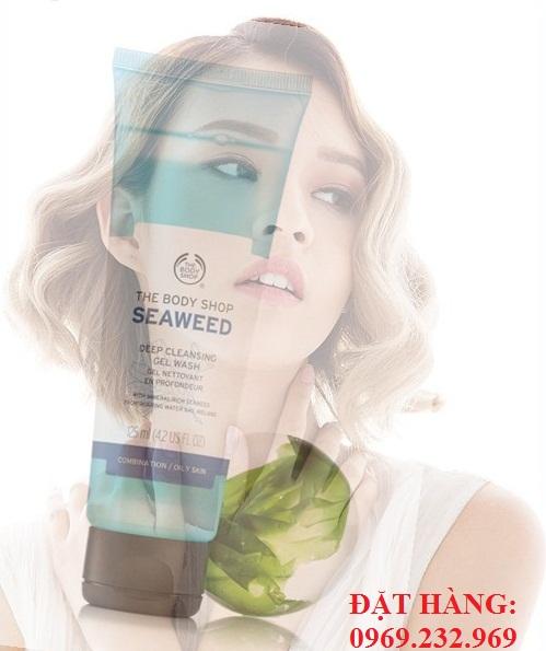 Sữa rửa mặt The Body Shop Seaweed Deep Cleansing Gel Wash