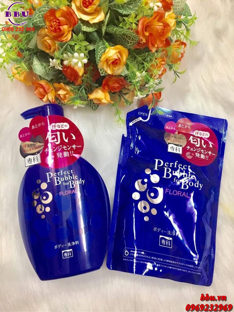 Sữa tắm Shiseido Perfect Bubble For Body Floral