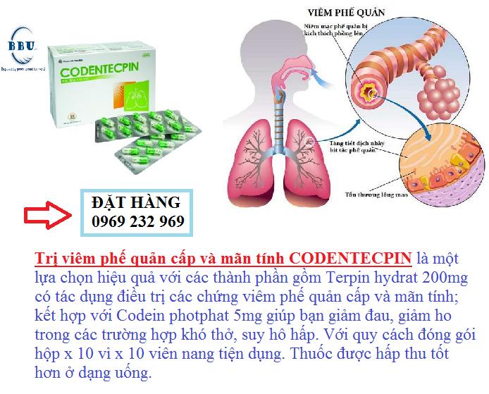 Trị viêm phế quản cấp và mãn tính CODENTECPIN