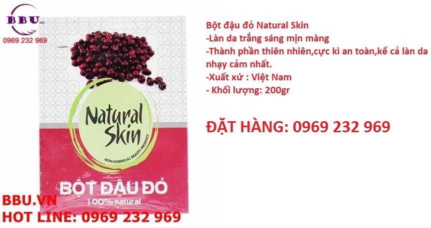 Bột đậu đỏ Natural Skin
