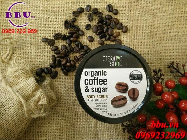 Tẩy tế bào chết toàn thân thiên nhiên Organic Shop Organic Coffee