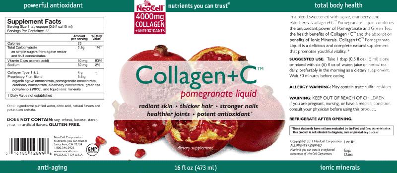 Thành phần Neocell collagen liquid dạng nước
