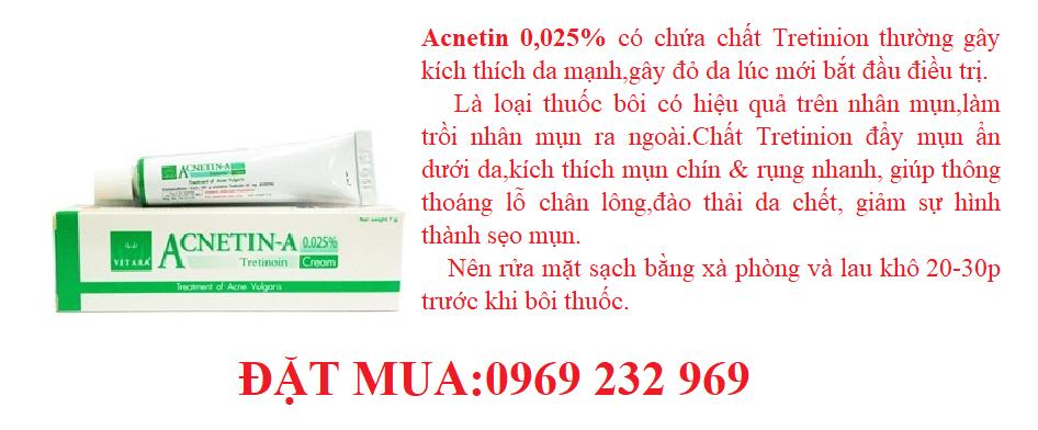 Thuốc điều trị mụn ẩn,mụn trứng cá ACNETIN-A 0,025%