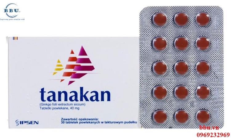 Thuốc điều trị rối loạn tiền đình Tanakan của Pháp