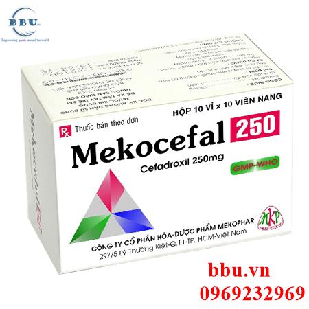Thuốc kháng sinh điều trị viêm phổi, viêm xoang, viêm thanh quản Mekocefal 250