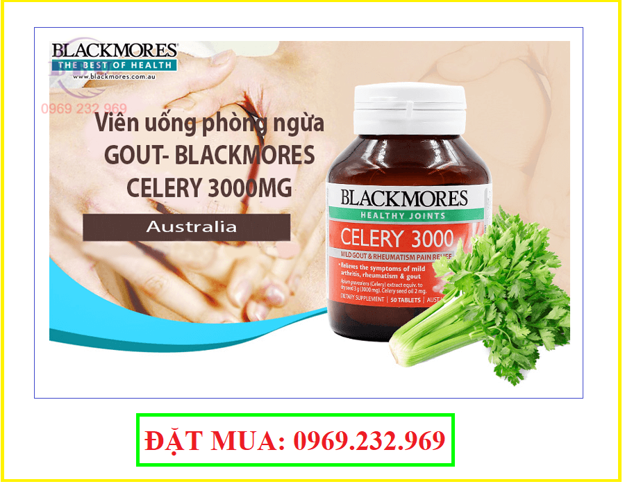 Thuốc trị gout blackmores celery 3000mg