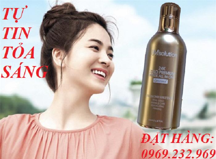 Tinh chất thần thánh làm đẹp JMsolution 24K Gold Premium Peptide All In One