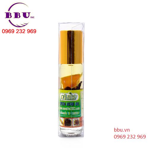 Dầu lăn thảo dược Green Herb oil Thailand 8ml