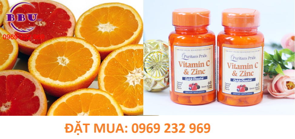 Viên uống Quick Dissolve Vitamin C with Zinc Mixed Berry
