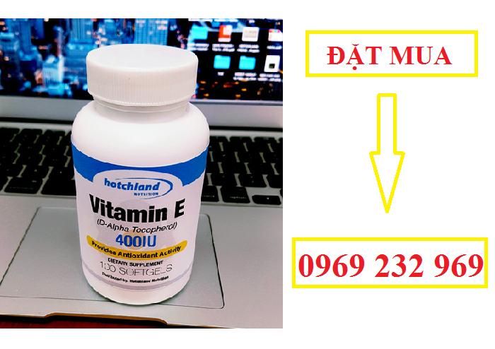 Viên uống Vitamin E 400 IU