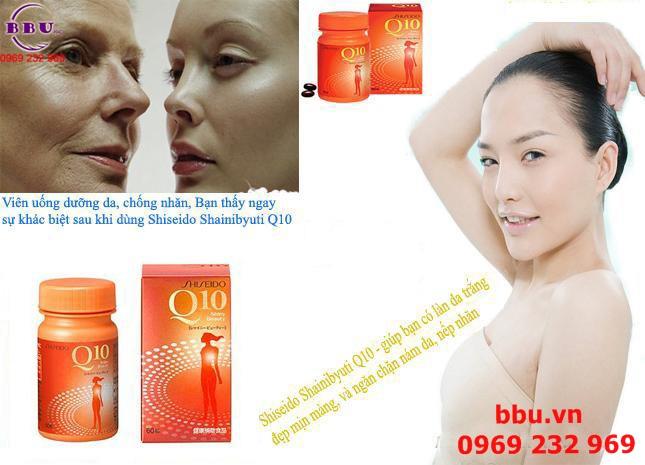 Viên uống đẹp da, chống nhăn Shiseido Q10 Shiny Beauty