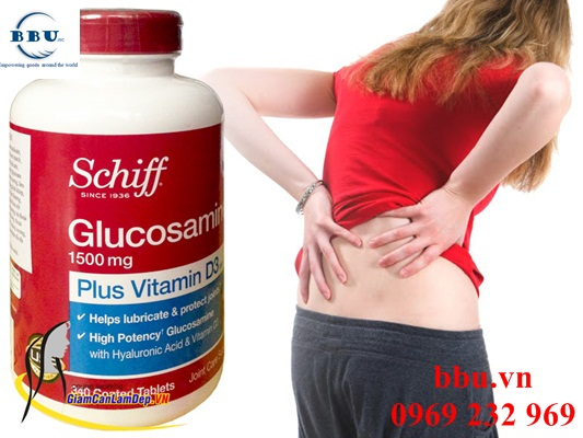 Viên uống hỗ trợ xương khớp Glucosamine Plus Vitamin D- Schiff Glucosamine