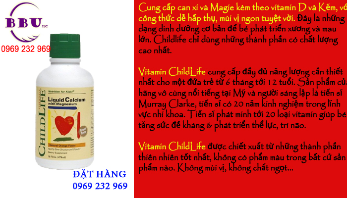 Vitamin của Mỹ cho trẻ em