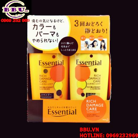Bộ dầu gội và xả dưỡng tóc Kao Essential Nhật Bản