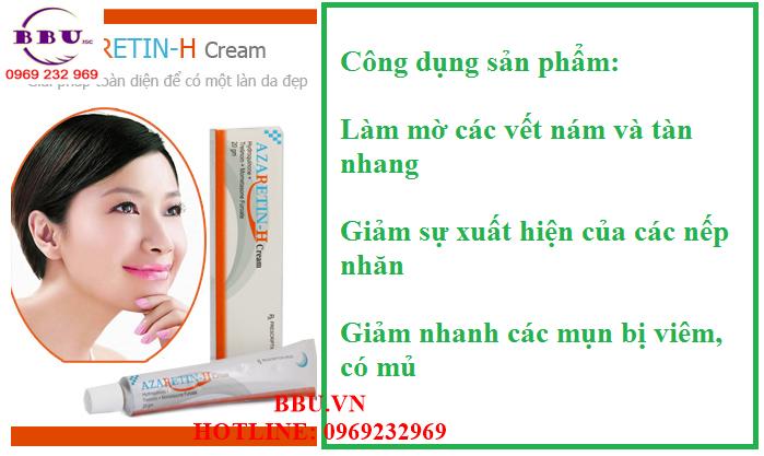 AZARETIN-H cream - Làm trắng da, Trị nám tàn nhang nốt ruồi 20g của Ấn Độ