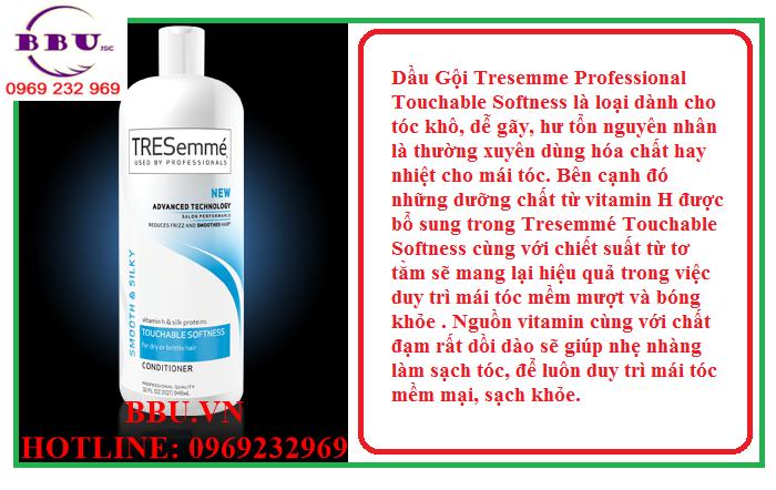 Bộ hai chai Dầu Gội của Mỹ Tresemme Healthy Volume và Tresemme Touchable Softness Giá:480,000
