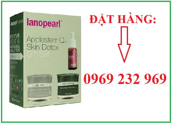 Bán bộ sản phẩm giải độc tố và tái tạo da của Lanopearl